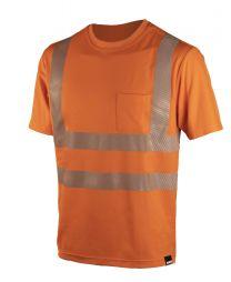 Dimex turvaluokiteltu t-paita 4338 on hyvä näkyvä työpaita ja kestävä. Dimexin työvaatteet ja työasut. Tilaa netistä vaikka osamaksulla, Dimex verkkokauppa. Tilaa myös Dimex turvahousut.