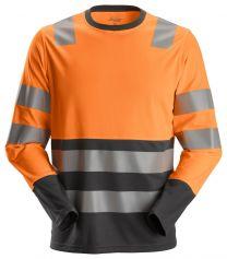 Huomio-t-paita pitkähihainen lk 2 AllroundWork Snickers 2433